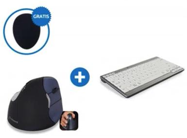 BakkerElkhuizen Ergonomisches Wireless Tastatur-und-Maus-Set