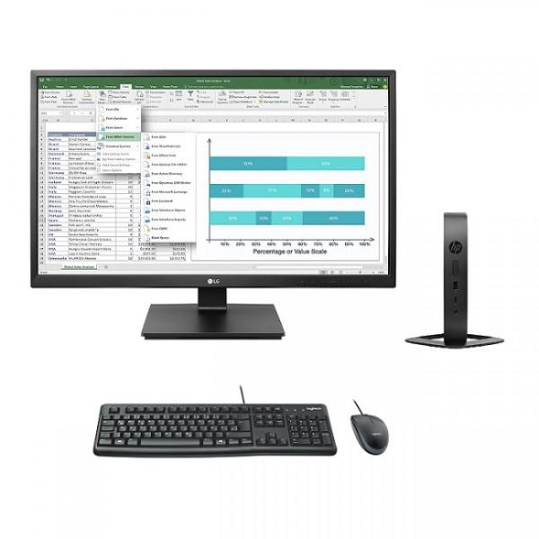 Kompletter Arbeitsplatz: HP t530 ThinPro Refurbished mit LG 24BK550Y